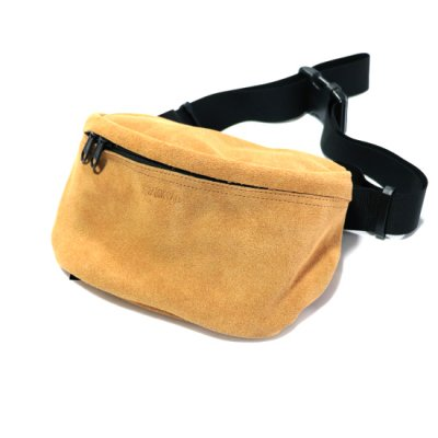 ZAKKPAC / LEATHER HIP BAG - YELLOW SUEDE