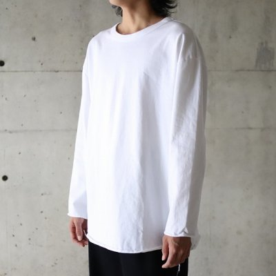 have a good day / 9/10 SLEEVE LOOSE Tee - WHITE