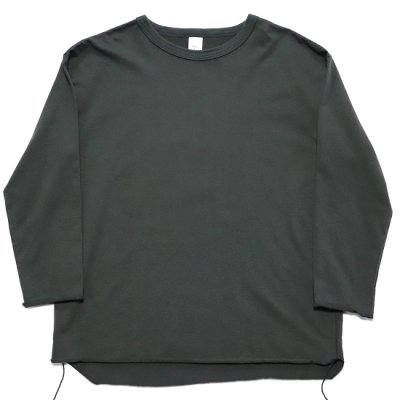 have a good day / 9/10 SLEEVE LOOSE Tee - CHARCOAL