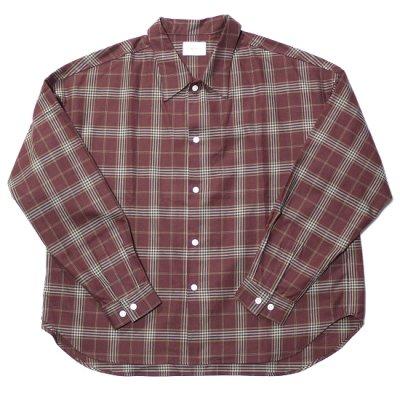 <img class='new_mark_img1' src='https://img.shop-pro.jp/img/new/icons20.gif' style='border:none;display:inline;margin:0px;padding:0px;width:auto;' />superNova (スーパーノバ) / Big shirt (Check) - Maroon
