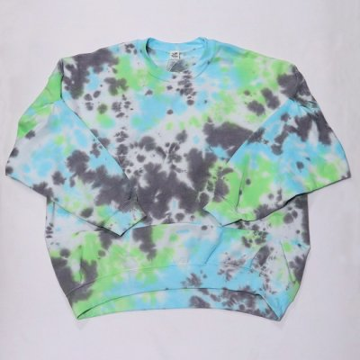 <img class='new_mark_img1' src='https://img.shop-pro.jp/img/new/icons20.gif' style='border:none;display:inline;margin:0px;padding:0px;width:auto;' />Niche.(ニッチ) / Tie Dye Pick C/N Sweat - GREEN