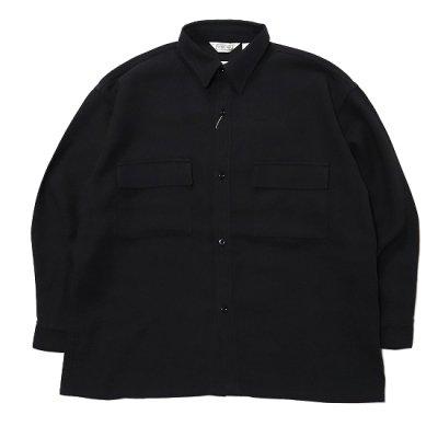 Niche. (ニッチ) + FIVE BROTHER / Square Work Shirts - BLACK
