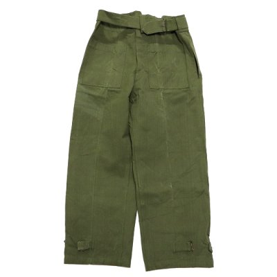 DEAD STOCK / 40's French Military Canvas Pants (ONE WASH)- OLIVE