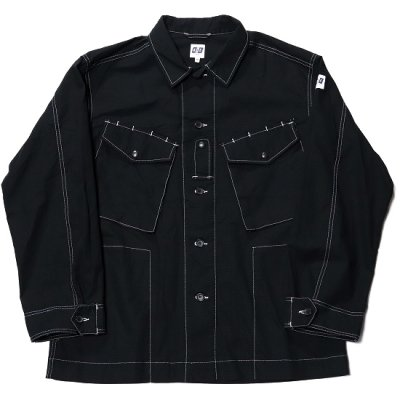 AiE (エーアイイー) / Prs Shirt (Cotton Ripstop) - BLACK