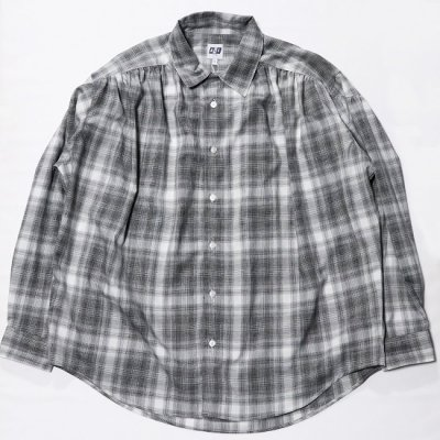 AiE (エーアイイー) / Painter Shirt (Shadow Plaid) - BLACK/WHITE