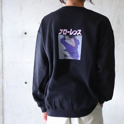 フローレンス / CREW SWEAT - BLACK
