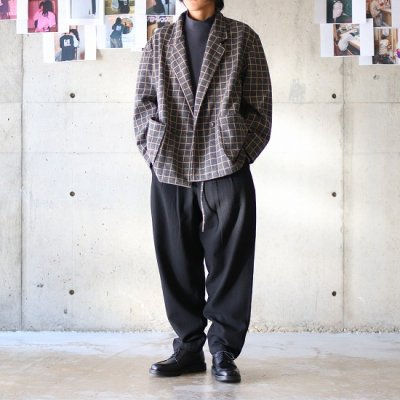 AiE (エーアイイー) / EZ JACKET - KNIT GRAPH CHECK