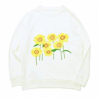 Niche. (ニッチ) / Flower Sweat (Sun Flower) - WHITE