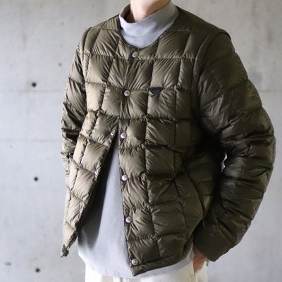 TAION EXTRA(タイオン エクストラ) / CREW NECK INNER DOWN SET TYPE2 - KHAKI