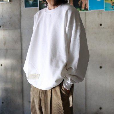 HESTRADA gee-wiz (エストラーダジーウィズ) / CREW WITH SLIT POCKETS - WHITE