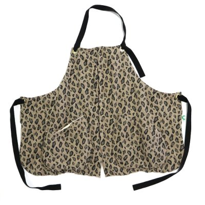 suolo(スオーロ)/ GRIZZLY apron leopard - SAND