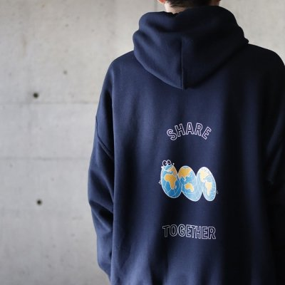 Laugh & Be... (ラフアンドビー) / SHARE TOGETHER HOODY - NAVY