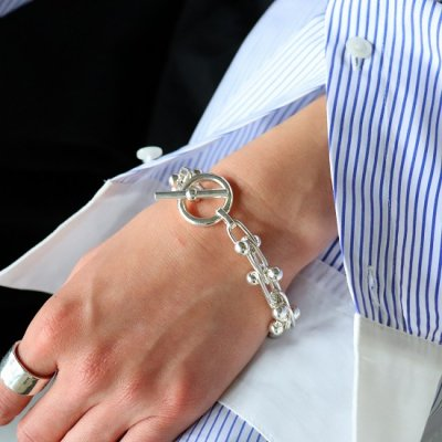 FIFTH GENERAL STORE(フィフスジェネラルストア)/ Silver Beaded Bracelet / Large