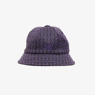<img class='new_mark_img1' src='https://img.shop-pro.jp/img/new/icons8.gif' style='border:none;display:inline;margin:0px;padding:0px;width:auto;' />Needles (ニードルス) / Bermuda Hat (Hound  Tooth) - PURPLE