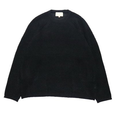 YOKO SAKAMOTO (ヨーコ サカモト) / PAPER KNIT SWEATER - BLACK