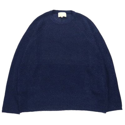 YOKO SAKAMOTO (ヨーコ サカモト) / PAPER KNIT SWEATER - NAVY