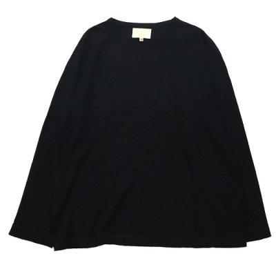 YOKO SAKAMOTO (ヨーコ サカモト) / SOFT TAILORED L/S TEE - BLACK