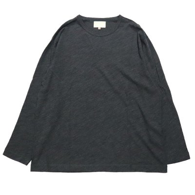 YOKO SAKAMOTO (ヨーコ サカモト) / SOFT TAILORED L/S TEE - CHARCOAL