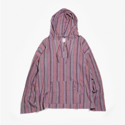 South2West8 (サウスツーウエストエイト) / MEXICAN PARKA (STRIPE CREPE) - PURPLE