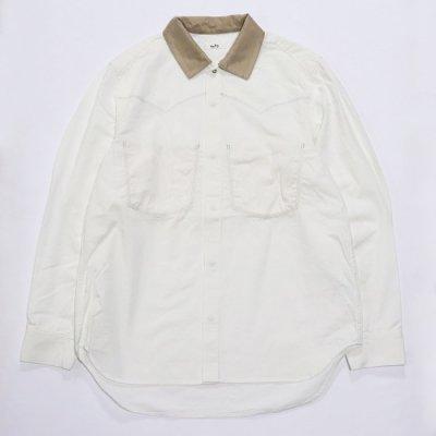saby (サバイ) / COWBOY SHIRTS (8OZ NEO BINGO DENIM) - WHITE
