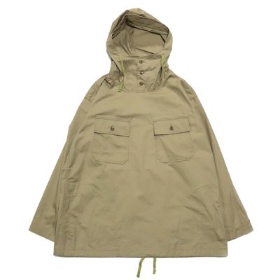 Engineered Garments(エンジニアードガーメンツガーメンツ)/ CAGOULE SHIRT (High Count Twill) - KHAKI