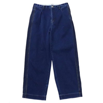 CURLY (カーリー) / MAZARINE WIDE TROUSERS - WASHED INDIGO