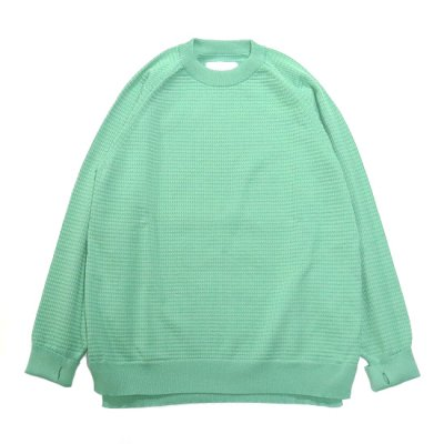 CURLY (カーリー) / AZTEC CREW KNIT - TEAL GREEN
