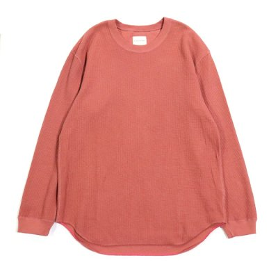 CURLY (カーリー) / CLOUDY LS TEE - SMOKE RED