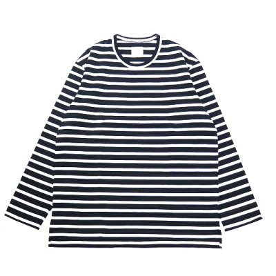 CURLY (カーリー) / SALFORD L/S BORDER TEE - BLACK / WHITE