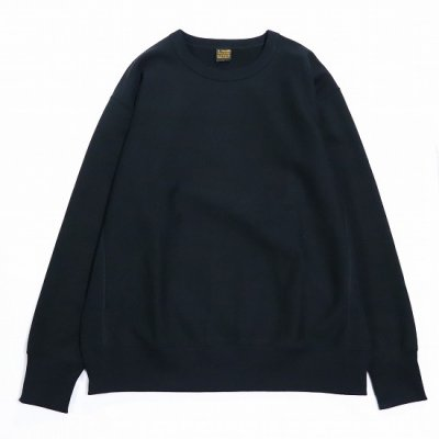 A Vontade (ア ボンタージ) / Reverse Crew Sweat L/S - BLACK