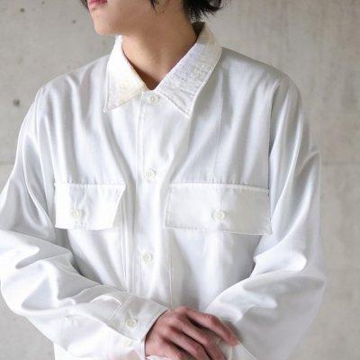 KUON (クオン) / kimono sleeve shirt jacket - WHITE