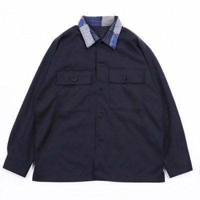 <img class='new_mark_img1' src='https://img.shop-pro.jp/img/new/icons8.gif' style='border:none;display:inline;margin:0px;padding:0px;width:auto;' />KUON (クオン) / kimono sleeve shirt jacket - NAVY