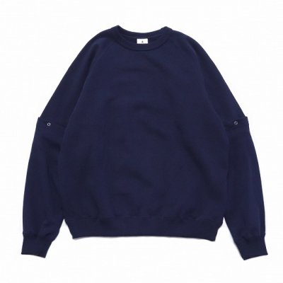 BAMBOO SHOOTS(バンブーシュート) / DETACHABLE SLEEVE CREWNECK SWEAT SHIRTS - NAVY