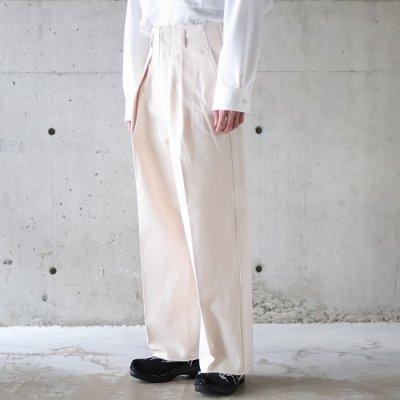 saby (サバイ)/ TUCK BAGGY 11.5oz Bingo Denim - NAT × PINK