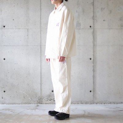 Needles (ニードルズ) / STRING FATIGUE PANT (COTTON HERRINGBONE) - OFF WHITE