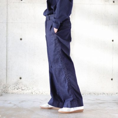 <img class='new_mark_img1' src='https://img.shop-pro.jp/img/new/icons8.gif' style='border:none;display:inline;margin:0px;padding:0px;width:auto;' />TRO USERS / WIDE TROUSERS (DENIM) - INDIGO