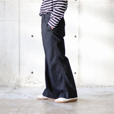 <img class='new_mark_img1' src='https://img.shop-pro.jp/img/new/icons8.gif' style='border:none;display:inline;margin:0px;padding:0px;width:auto;' />TRO USERS / WIDE TROUSERS (DENIM) - BLACK
