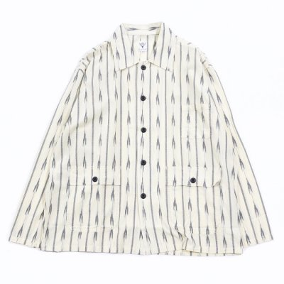 South2West8 (サウスツーウェストエイト)/ HUNTING SHIRT (IKAT ARROW) - WHITE