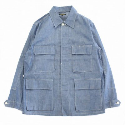 A VONTADE (アボンタージ) / BDU Tropical Jacket (Chambray) - Lt.BLUE