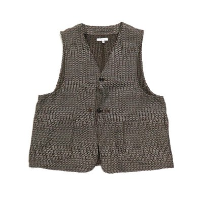Engineered Garments(エンジニアードガーメンツ)/ UPLAND VEST (Basketweave Cloth) - BROWN