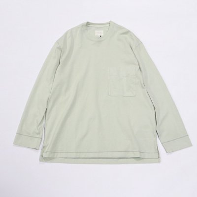 CURLY (カーリー) / FROSTED L/S POCKET TEE - SAGE GREEN