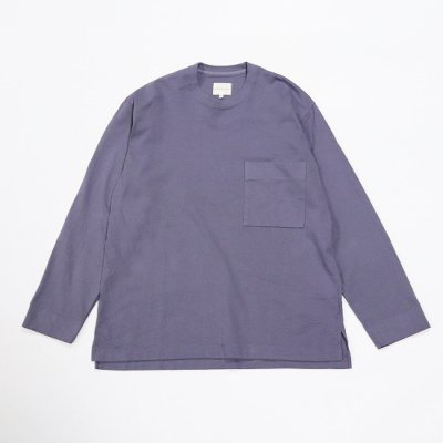CURLY (カーリー) / FROSTED L/S POCKET TEE - LAVENDER