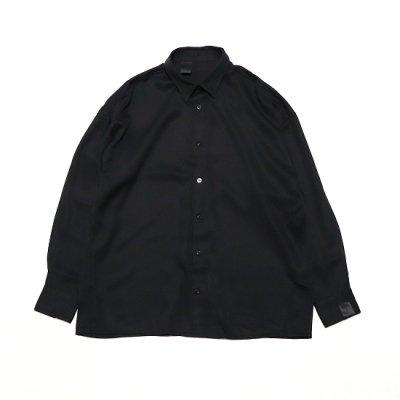 N.HOOLYWOOD(エヌハリウッド) / REGULAR COLLAR SHIRT - BLACK / 2211-SH24-021