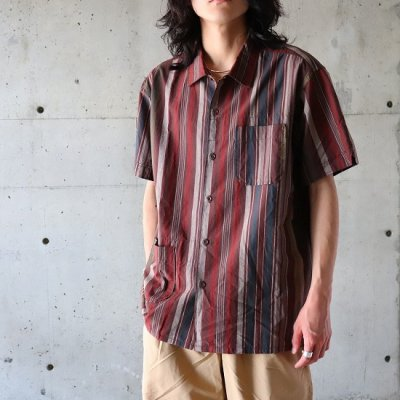 Engineered Garments(エンジニアードガーメンツ)/ CAMP SHIRT (Cotton Variegated Stripe) - BROWN