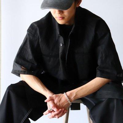 NISH (ニッシュ) / SS SHIRTS OVERSIZE - BLACK