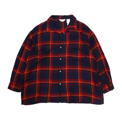 it's inconspicuous presence (Niche. ニッチ) + FIVE BROTHER / Rayon Square Shirts - NAVY