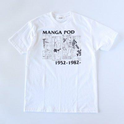 NuGgETS (ナゲッツ) / MANGA POD SS TEE - WHITE/WHITE