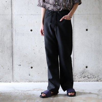 go-getter (ゴーゲッター) / #006 Remake FLARE EASY PANTS 2 - BLACK