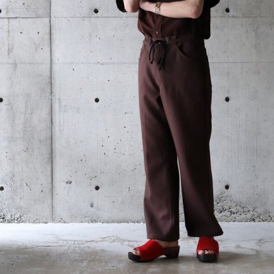 go-getter (ゴーゲッター) / #006 Remake FLARE EASY PANTS 4 - BROWN