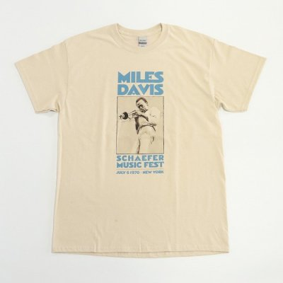 MUSIC TEE / MILES DAVIS NYC TEE - BEIGE